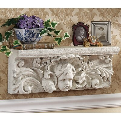 Cathedral Cherub Sculptural Wall Shelf