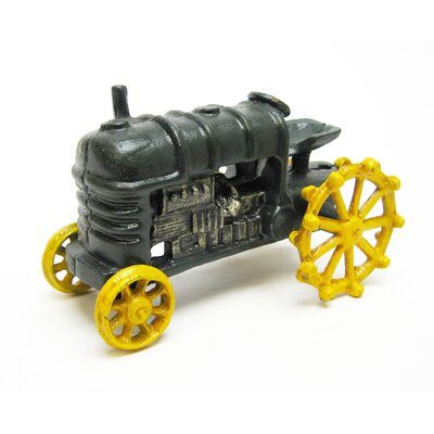 Design Toscano Farmstead Replica Cast Iron Farm Toy Tractor