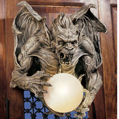 Design Toscano Merciless the Gargoyle Lighted Wall Sculpture (Set of 2)