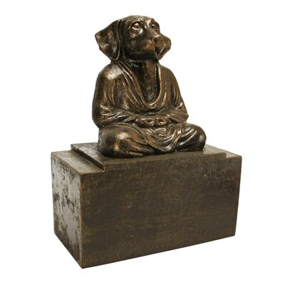 Design Toscano Spirit of Zen Meditating Dog Bookend