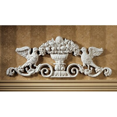 Urn Ornamental Architectural Pediment Wall Art
