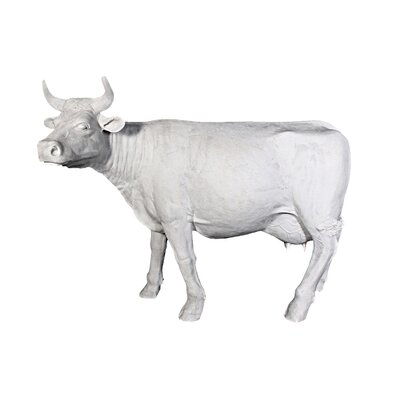 The Grand-Scale Wildlife Animal Unpainted Holstein Cow Statue