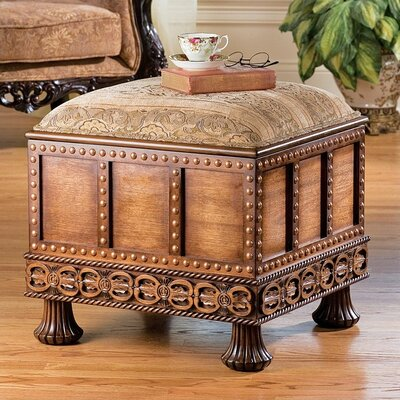 Design Toscano Medieval Strong Box Ottoman