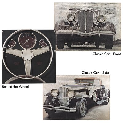 On the Road Vintage Auto Wall Art (Set of 3)