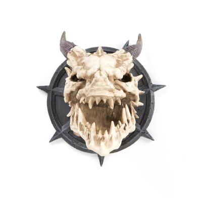 Horned Dragon Skull Wall Trophy