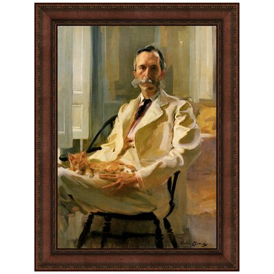 Man with Cat, 1898 Replica Painting Canvas Art