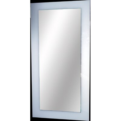 "Whitehaus Collection Aeri 20"" x 40"" Mirror in White"