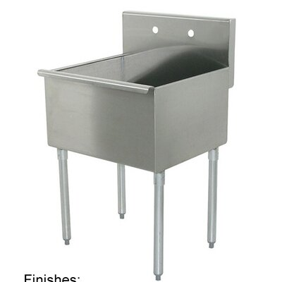 Utility Sink Stainless Steel Freestanding : Free Standing Sink Wayfair