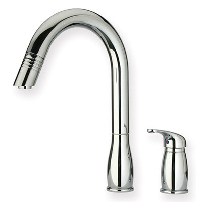 Whitehaus Collection Metrohaus One Handle Widespread Kitchen Faucet with Pull-out Spray