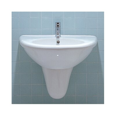 China U-Shaped Half Pedestal Bathroom Sink - ECO34-ECO15