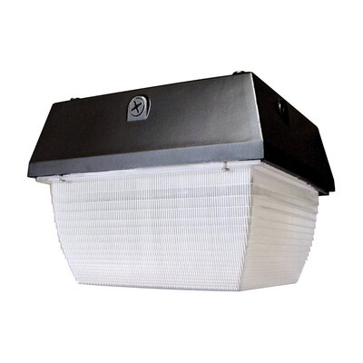 Deco Lighting 70W Square Luminaire Flush Mount in Bronze
