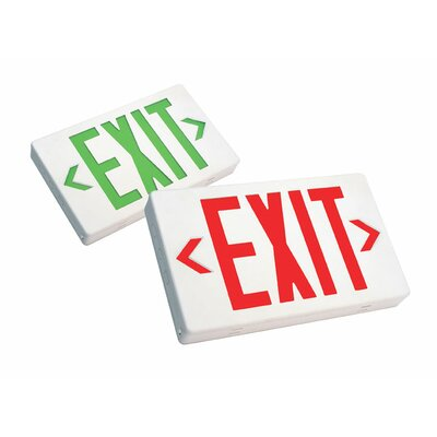 Deco Lighting LED Exit Sign with Battery Backup in Black