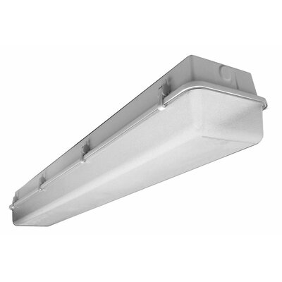 Deco Lighting 32W Industrial Vaportite Two Light Strip Light in Baked White Enamel