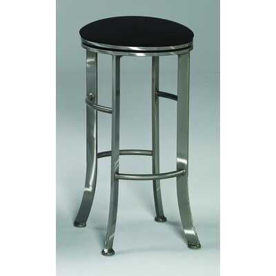 "Johnston Casuals High Rise 30"" Quick-Ship Backless Swivel Barstool in Pewter"
