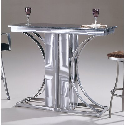 Johnston Casuals Crescent Granite Top Contemporary Bar Table