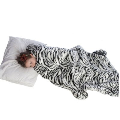 Fun and Function Weighted Blanket Slipcover in Zebra Fur