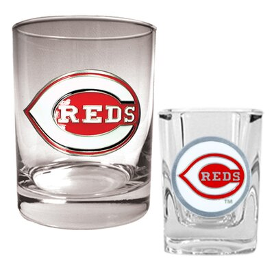 Great American Products MLB Rocks Glass & Square Shot Glass Set