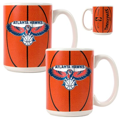 Great American Products NBA Gameball Primary Logo Mug (Set of 2)