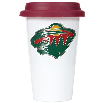 Great American Products NHL 12oz Double Wall Tumbler with Maroon Lid