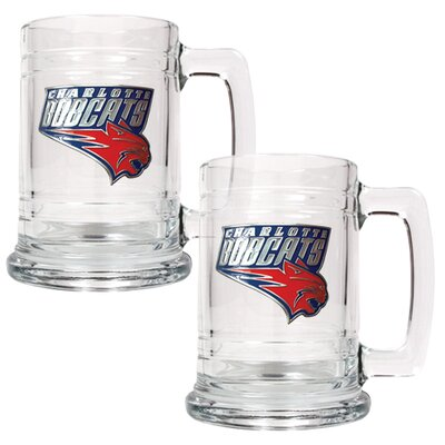 Great American Products NBA 15oz Glass Tankard 2 Piece Set - Primary Logo