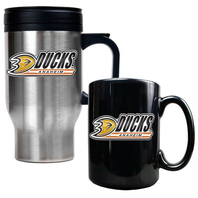 Great American Products NHL Travel Mug and Ceramic Mug (Set of 2)