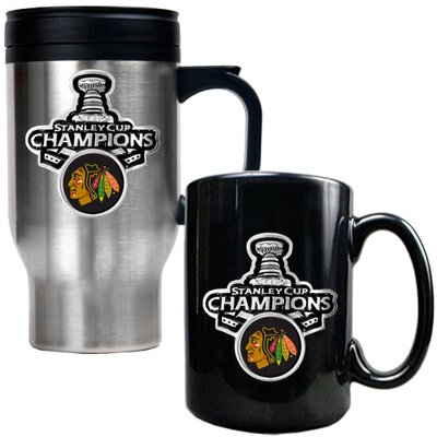 Great American Products Blackhawks 2013 NHL Stanley Cup Mug Set
