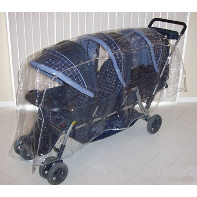 Sasha's Kiddie Products Triplet (Front to Back) Stroller Rain and Wind Cover