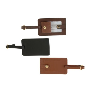 Royce Leather Leather Snap Luggage Tag