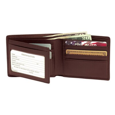 RFID Blocking Men's Bi-Fold Wallet