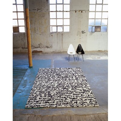Nanimarquina Black On White Manuscrit Rug