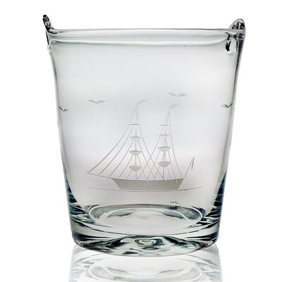 Susquehanna Glass Individual 8&quot; Ice Bucket Hand Cut Clipper Ship Pattern