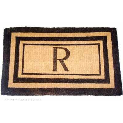 Geo Crafts, Inc Imperial Triple Text Monogram Golden Doormat