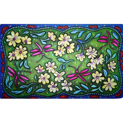 Flowers and Dragonflies Doormat