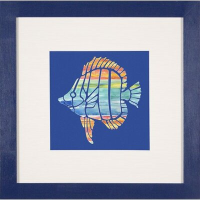 Phoenix Galleries Tropical Fish 2 Framed Print - 24&quot;x 24&quot;