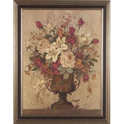 Phoenix Galleries Floral Reflection 1 Canvas Transfer Framed Print