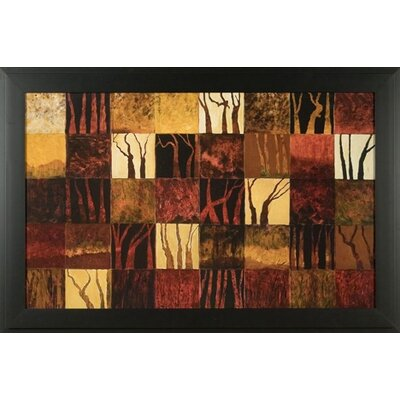 Phoenix Galleries Dark Trees Canvas Transfer Framed Print