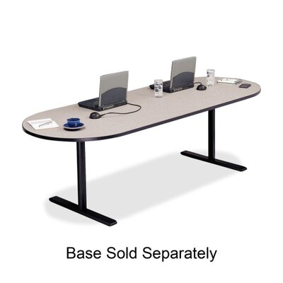 "Bretford Manufacturing Inc Racetrack Conference Table,42""x120""x29"",Gray Nebula"