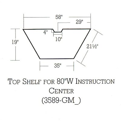 "Bretford Manufacturing Inc 80"" Wide Connections Instruction Center with Shelf"