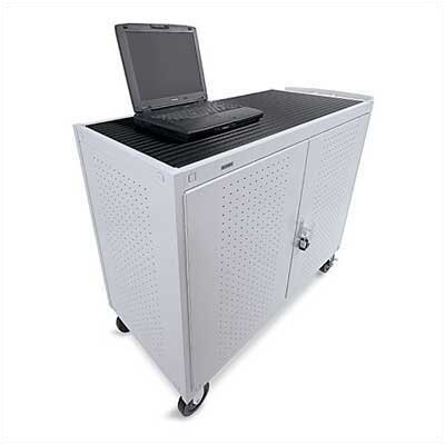 "Bretford Manufacturing Inc 24 Laptop UL Listed Computer Cart with 5"" Casters (fully assembled)"