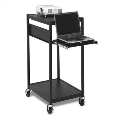 Bretford Manufacturing Inc Compact Laptop / Projector Cart with 3 Electrical Outlet