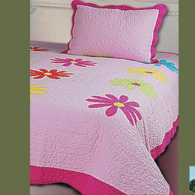 Daisy Crazy 2 Piece Quilt Set