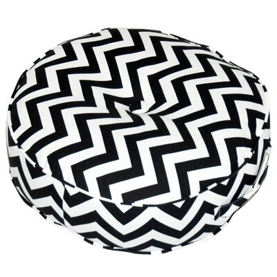 Greendale Home Fashions Zig Zag Fabric Round Floor Pillow