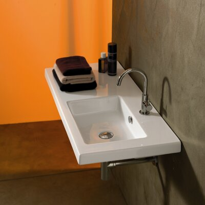 Ceramica Tecla by Nameeks Condal Ceramic Bathroom Sink with Overflow