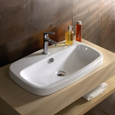 Esprit Drop-in Ceramic Bathroom Sink with Overflow - Art ES02011-NH / Art ES02011-SH / Art ...