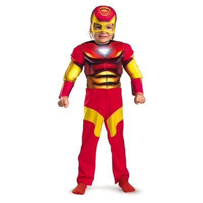 Disguise Costumes Iron Man Toddler Muscle Costume