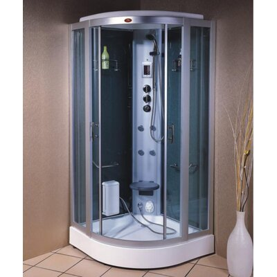 Steam Planet Corp Personal Rounded Sliding Door Corner Steam Shower