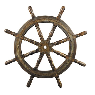 Ship's Steering Wheel 3D Wall Art