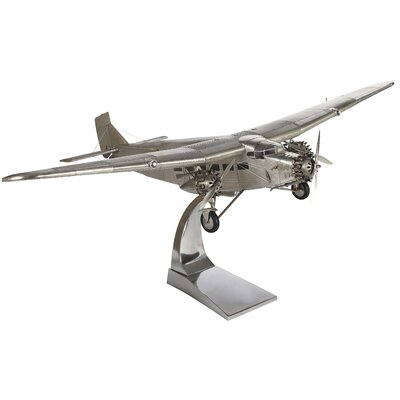 Authentic Models Ford Tri Motor Plane Model in Aluminum