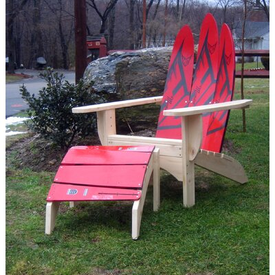 Ski Chair Water Ski Adirondack Chair and Ottoman