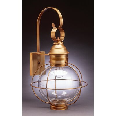 Northeast Lantern Onion 2 Candelabra Sockets Caged Round Wall Lantern